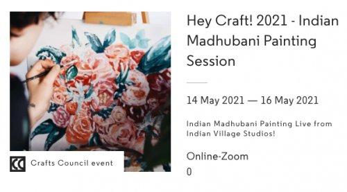 Hey Craft!2021 - Indian Madhubani Painting Session