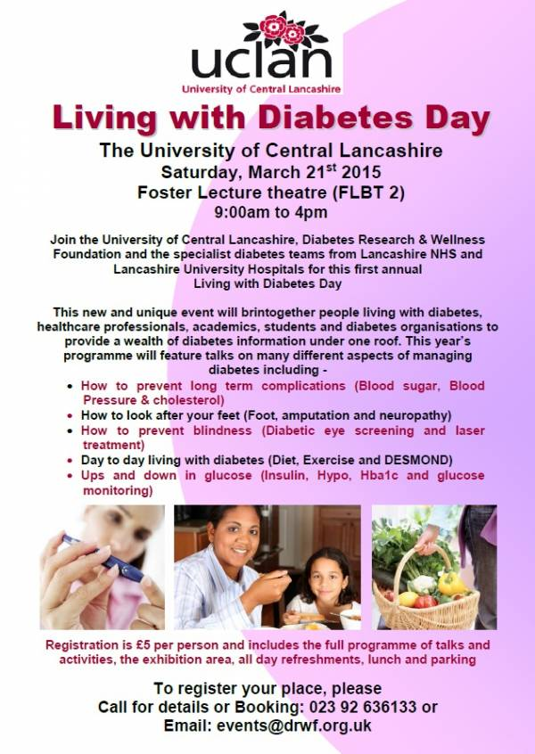 UCLan Living With Diabetes Day