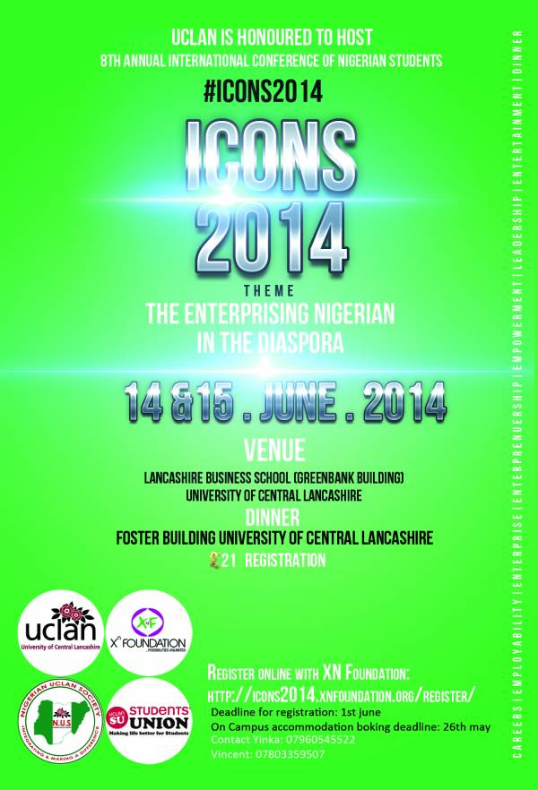 8th International Conference Of Nigerian Students – ICONS 2014