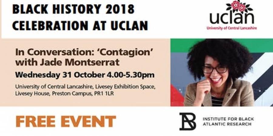 Black History Month - Talk- UCLAN - 4-5.30pm- 31/10/18