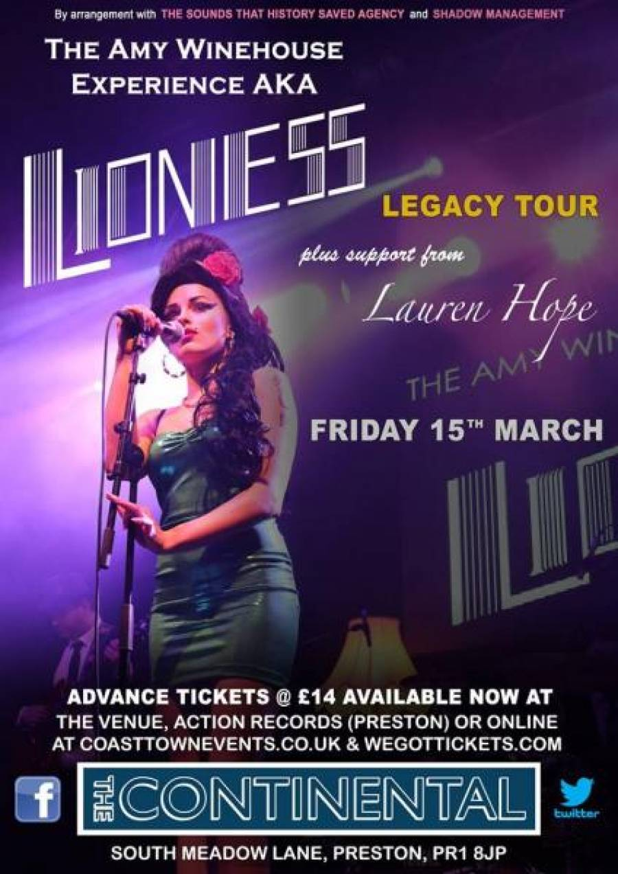 Lioness - Amy Winehouse Tribute Act - The Continental - 15/3/19