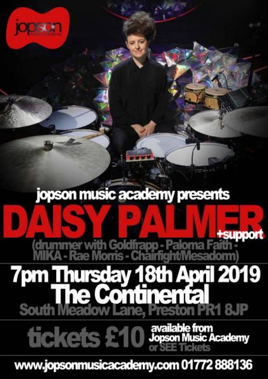 Daisy Palmer Drum Masterclass - The Continental- 7pm - 18/4/19