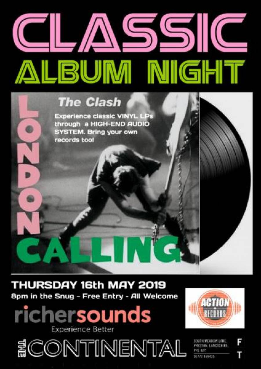 Classic Album Night - The Clash - London Calling - The Continental - 8pm - 16/5/19