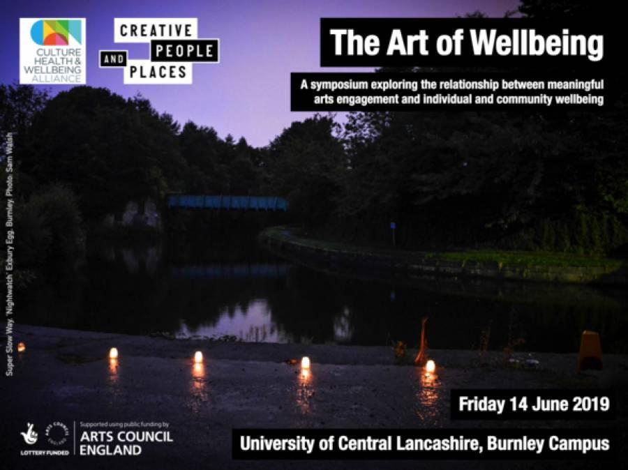 Art Of Wellbeing Symposium- UCLAN - Burnley Campus - 10am -4.30pm -14/6/19