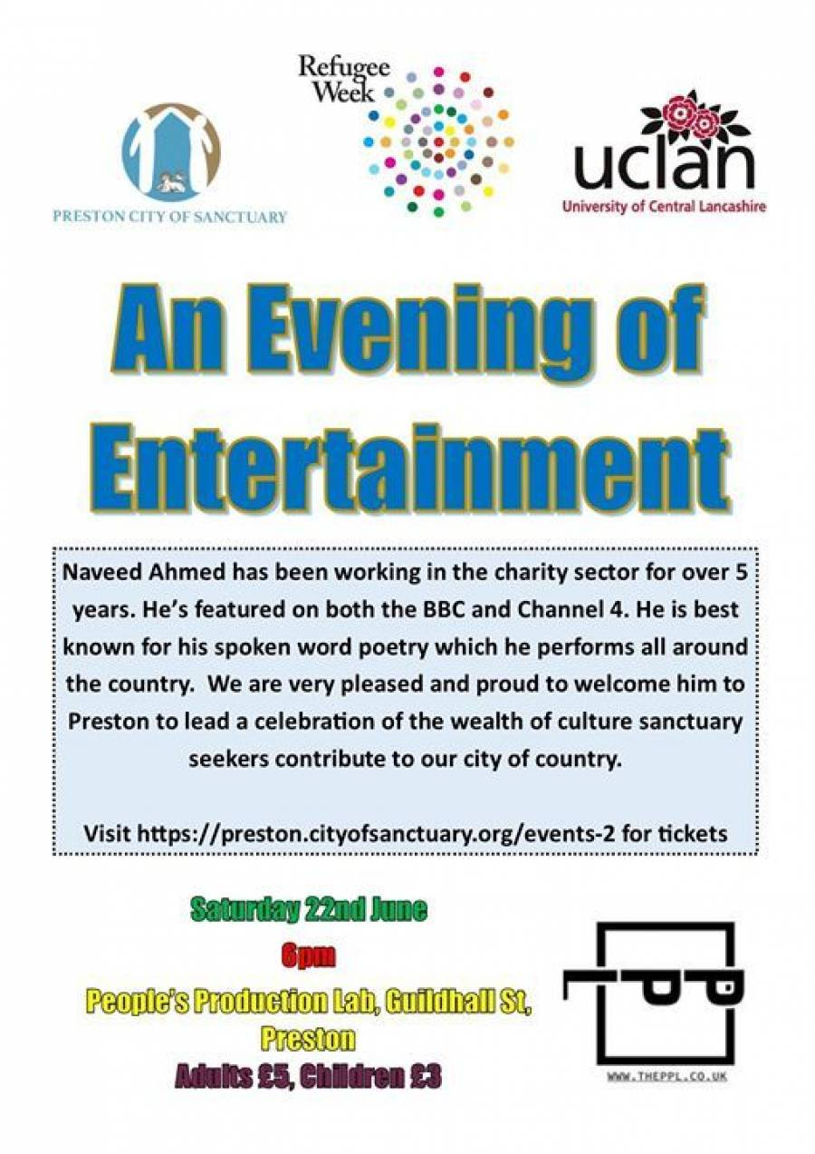 An Evening Of Global Entertainment - PP LAB -Preston- 6pm -9pm - 22/6/19