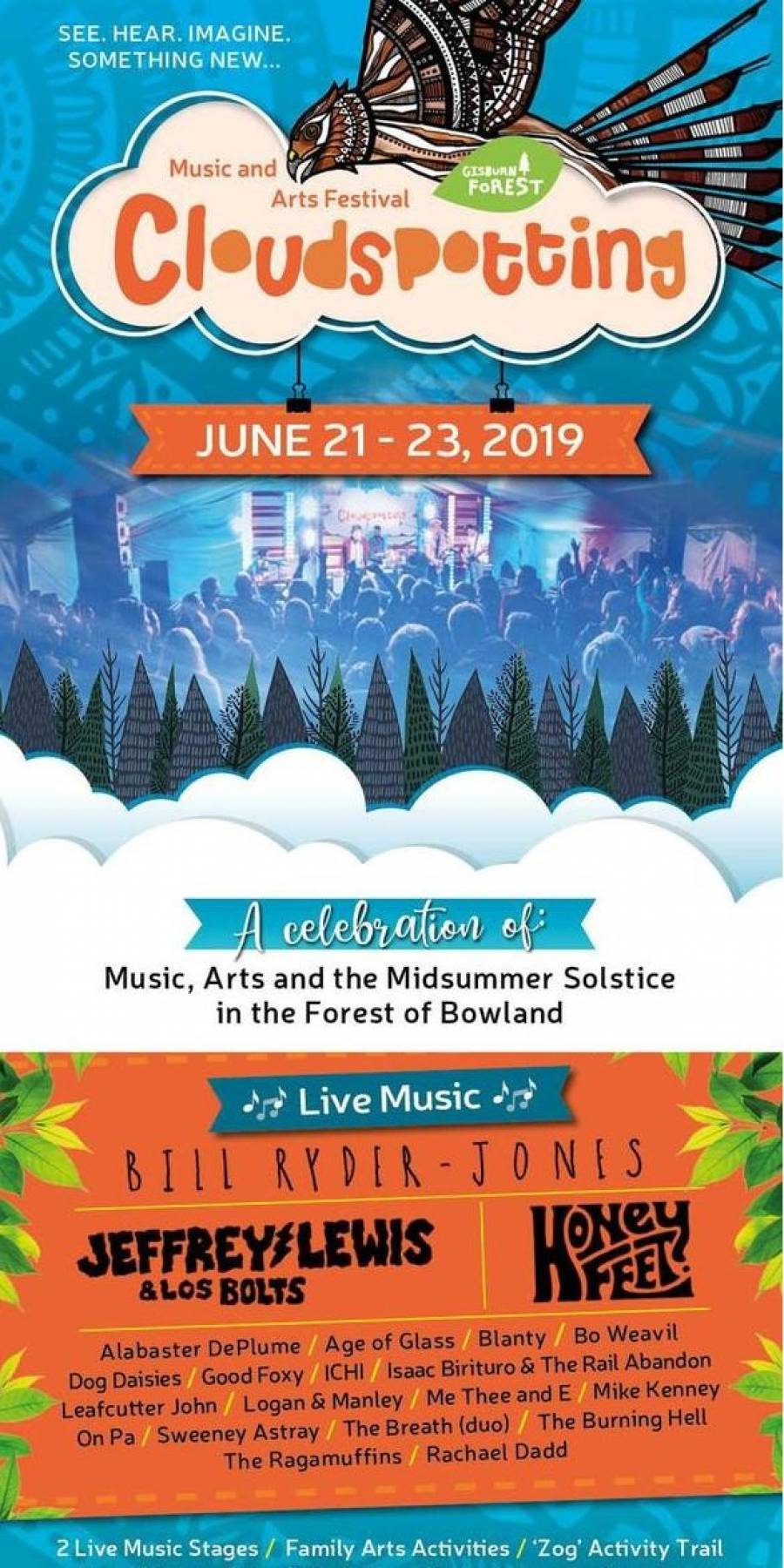 Cloudspotting Music And Arts Festival - Gisburn Forest - 21/6/19 - 23/6/19