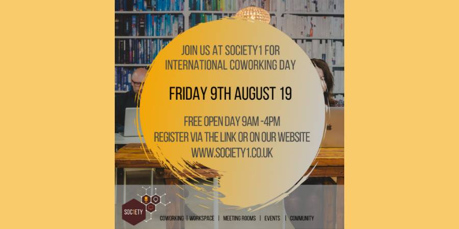 Coworking Day - Society 1 - Preston - 9am- 4pm 9/8/19