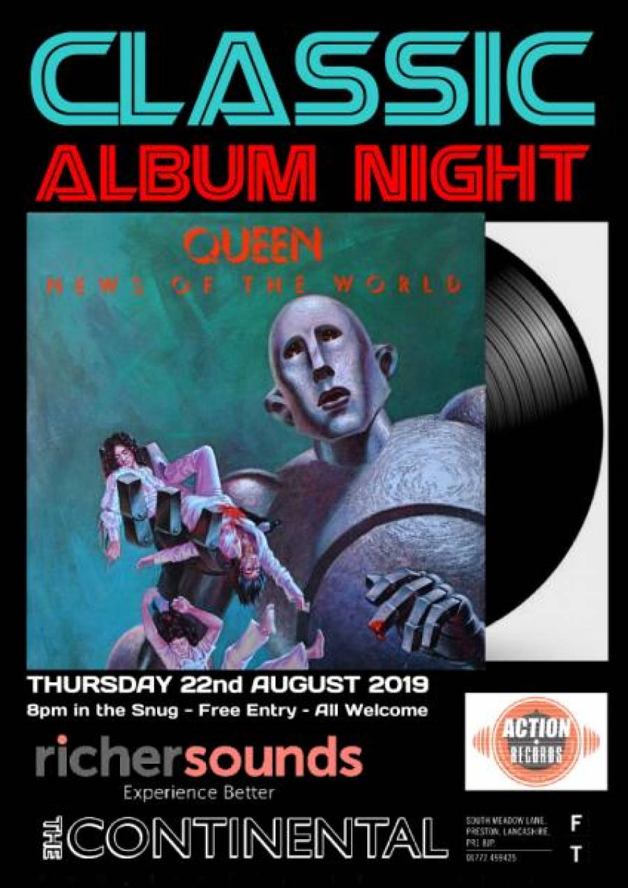 Classic Album Night 11 - New Continental - 8pm -22/8/19