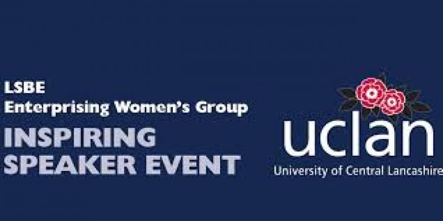 Inspiring Speaker Event - UCLAN - 12noon - 1pm - 2/10/19