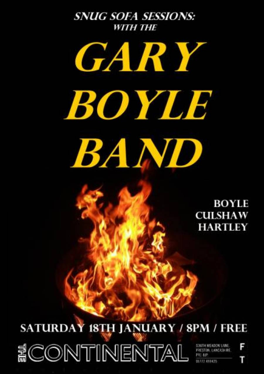 Gary Boyle Band - The Continental - Preston - 8pm - 18/01/20