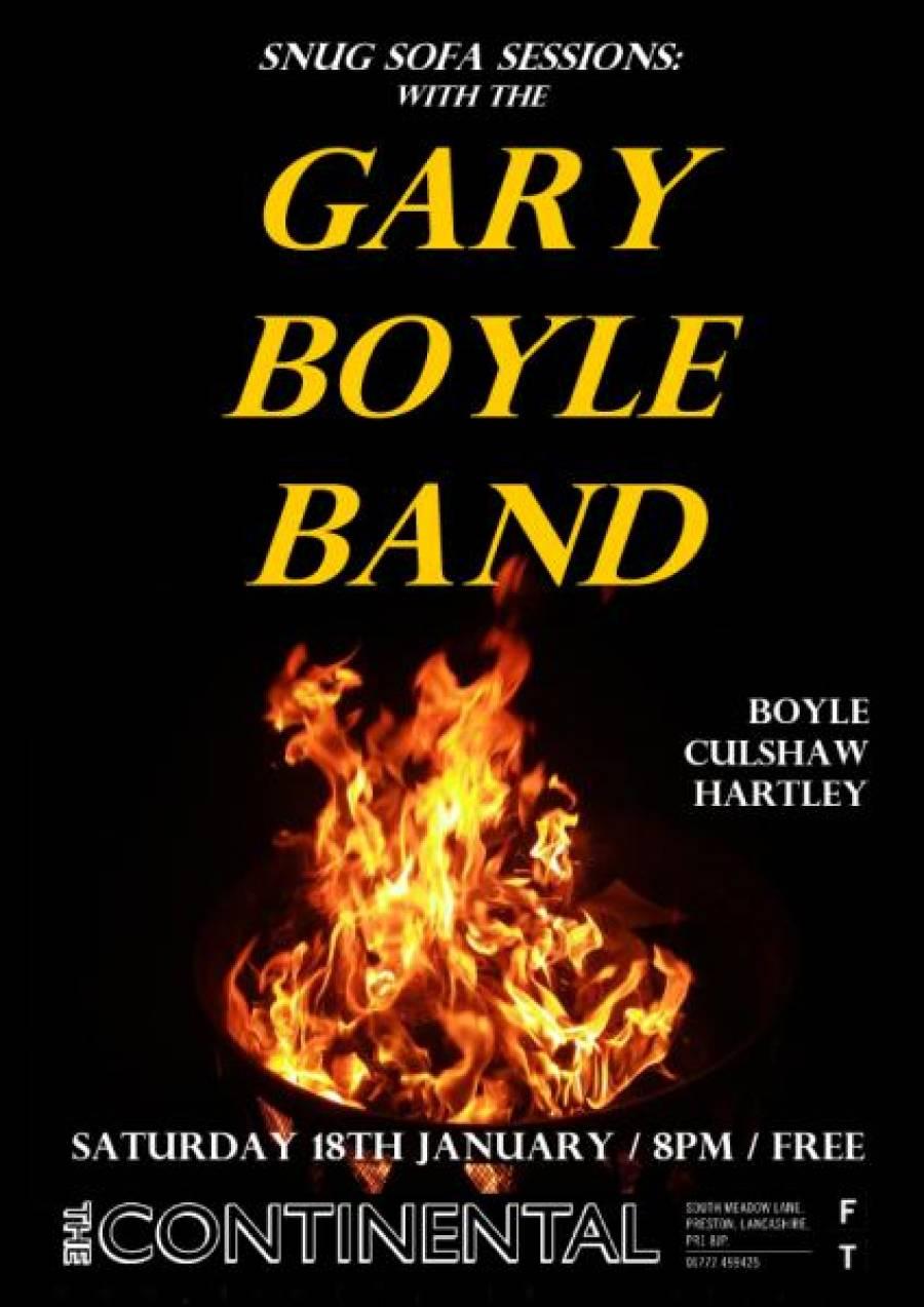 Gary Boyle Band - The Continental - Preston - 8pm - 18/01/20