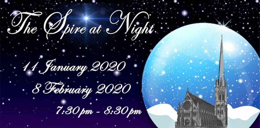 The Spire At Night - St Walburges Church - 7.30pm - 8.30pm - 11/01/20 - 8/02/20