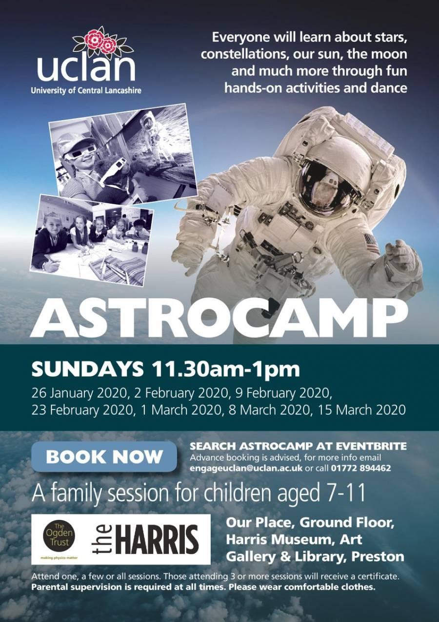 Astrocamp - The Harris - Preston - 11am - 12.30pm - 2/02/20