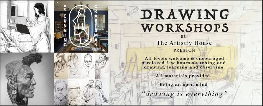 Drawing Workshops - The Artistry House - Preston - 4pm -7pm - 04/03/20