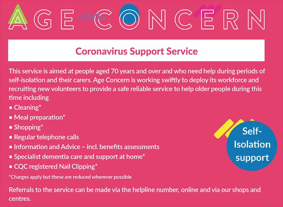 Age Concern Central Lancashire Stepping Up At A Time Of Crisis