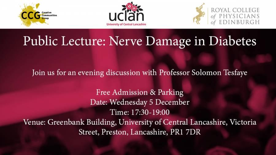 Public Lecture: Nerve Damage In Diabetes