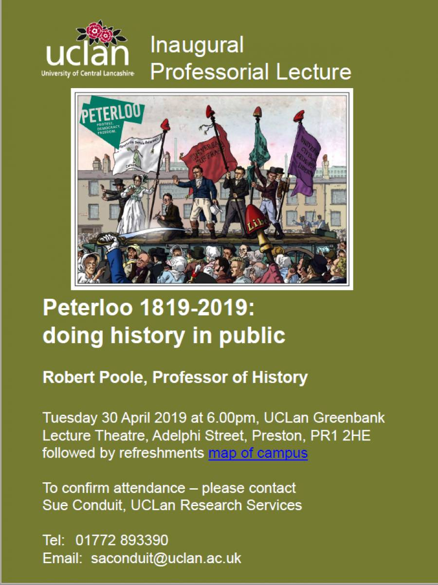 'Peterloo 1819-2019: Doing History In Public'
