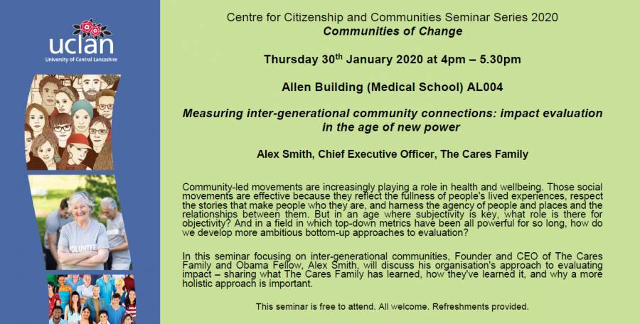 Free Seminar - Measuring Inter-generational Community Connections