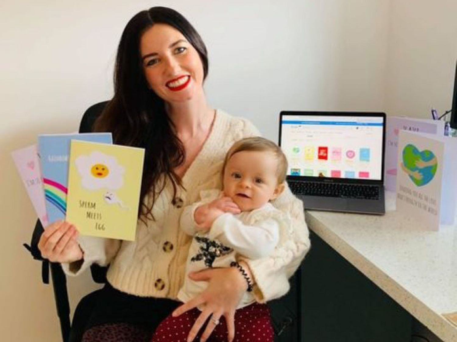 Baby search finds joy in creating cards