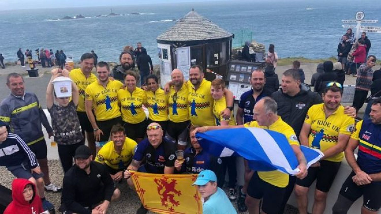 Ten Veterans Compete In Cycle Route for MND Sufferer.