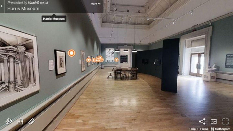 The Harris Creates online virtual gallery