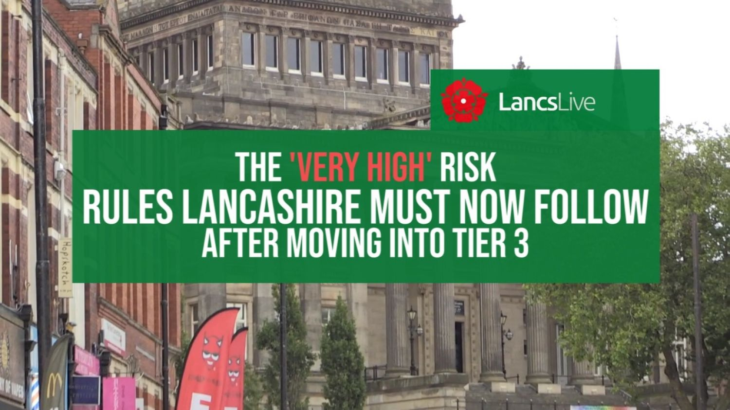 Tier Three Rules for Lancashire - What it Means For You, Your Family and Friends